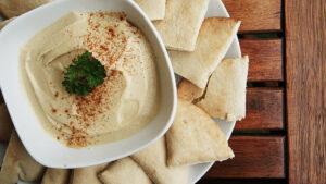 Hummus mit Ingwer und Minze
