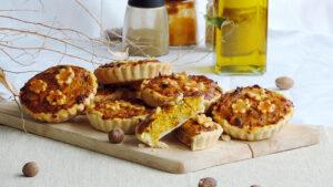 Kürbis-Tarteletten mit Gruyère-Käse