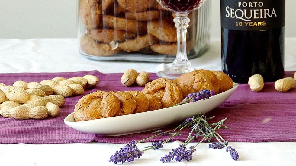 Vegane Cookies aus Tahini und Portwein