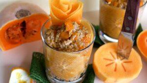 Porridge mit Kürbis und Kaki
