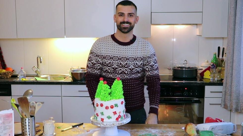 Festlicher Weihnachtskuchen
