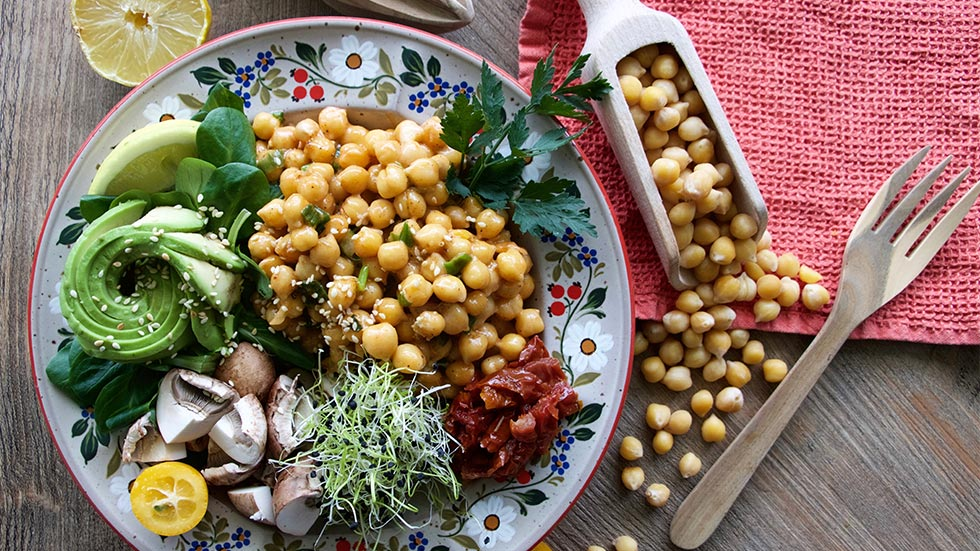 Kichererbsen Gorgonzola Bowl