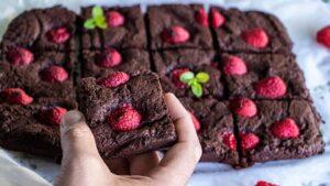 Himbeer-Brownie