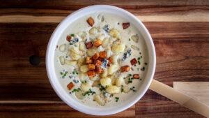 Kartoffel-Gnocchi mit Kürbis an Gorgonzola-Sauce