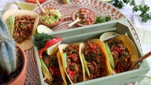 Mexikanische Tacos mit Hackfleisch