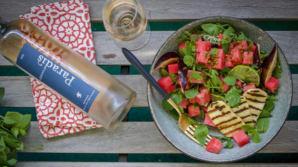 Wassermelonen-Halloumi-Salat