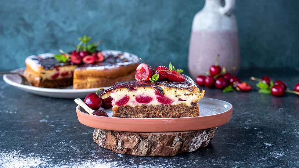 Kirschen-Cheesecake