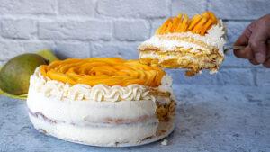 Exotischer Mango-Kuchen