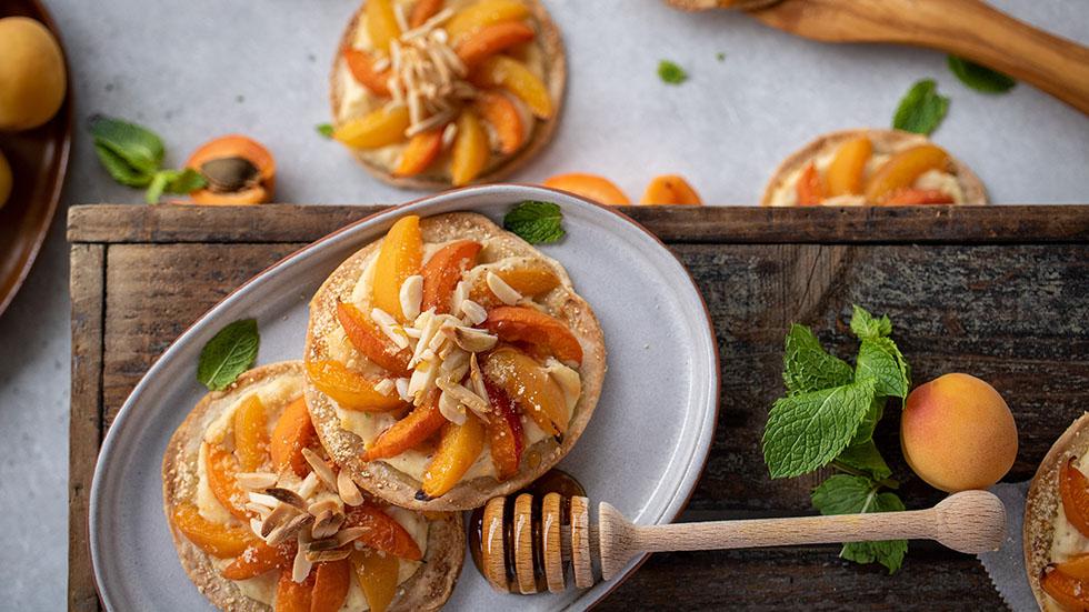 Aprikosen-Flammkuchen