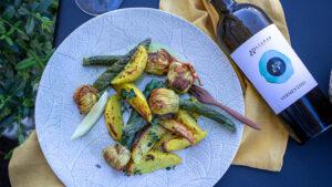 Gefüllte Zucchiniblüten mit Poulet & Zitronenbratkartoffeln